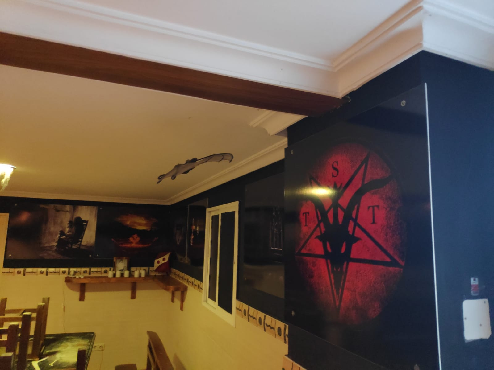 Decoración Restaurante de Terror